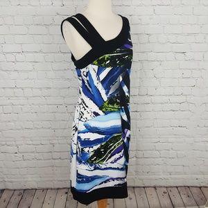 Joseph Ribkoff Dresses - Joseph Ribkoff Sheath Dress Black Blue White 14